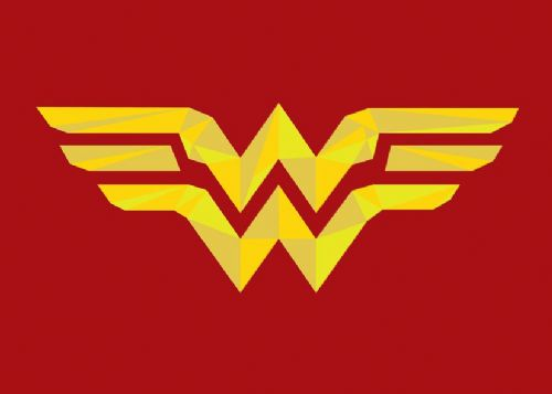 WONDER WOMAN - LOGO RED ART canvas print - self adhesive poster - photo print